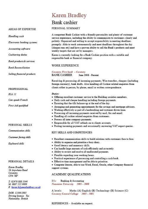 Banker Resume