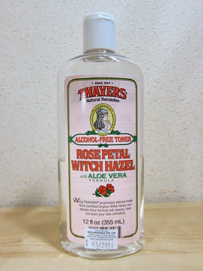 Alcohol free facial toner