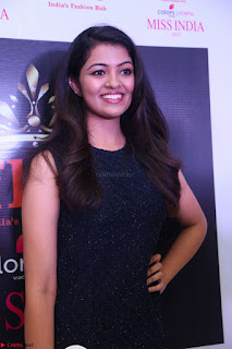 Model Shreya Kamavarapu in Short Black Dress at FBB Miss India 2017 finalists 056.JPG