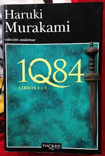 Portada del libro 1Q84. Libros 1 y 2, de Haruki Murakami
