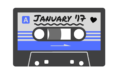 January 2017 playlist icon - designed with Canva