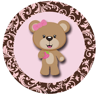 Cute Bear Toppers or Free Printable Candy Bar Labels.