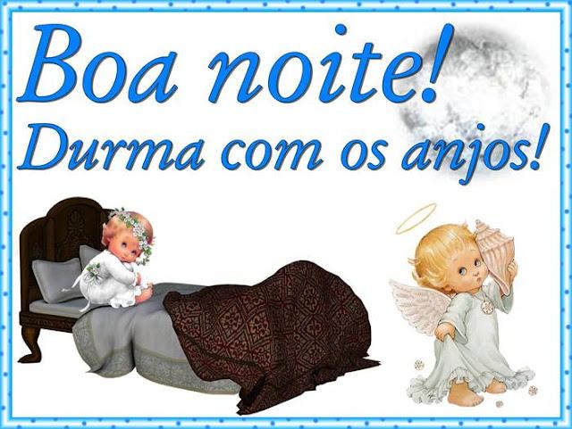 Cartões postais de boa noite, durma com os anjos
