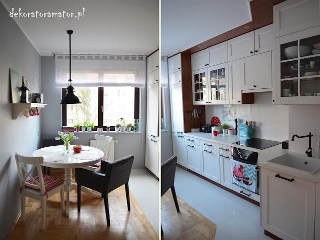 jadalnia, biała kuchnia, ikea, kuchnia skandynawska