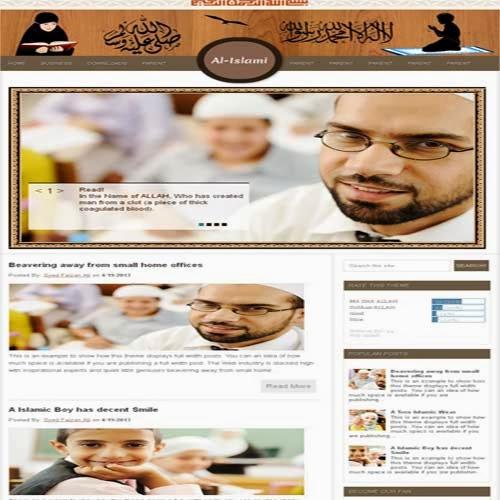 Al-Islamic Muslims Religion Blogger Templates Free ...