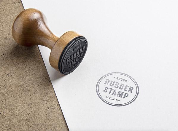 Download Logo Mockup PSD Terbaru Gratis - Rubber Stamp 2 Logo Mockup