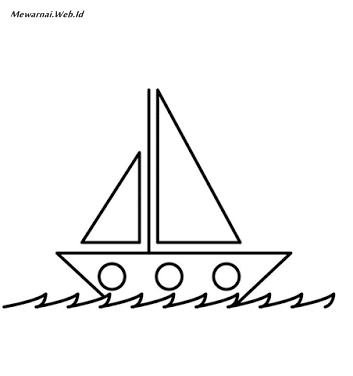 Gambar Kapal Laut Untuk Mewarnai Warna Warni Gambar