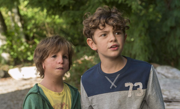 Auggie (Jacob Tremblay) and his classmate, Jack Will (Noah Jupe) in WONDER (2017)
