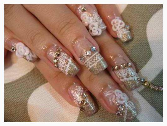 Beautiful Bridal Nail Art Designs