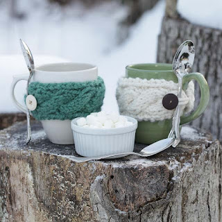 Loom Knit Cable Mug Cozy Pattern Free