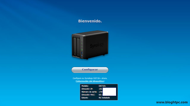 Puesta en marcha Synology DiskStation DS718+