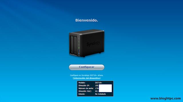 Puesta en marcha Synology DiskStation DS718+