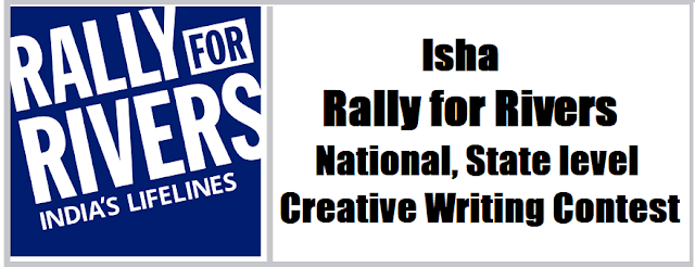 Rally for Rivers: National, State level Creative Writing Contest(Competitions) 2017