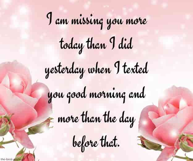 good morning message for him long distance miss u