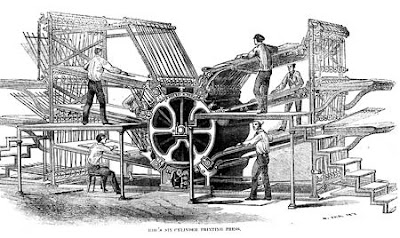 19th century printing machine.