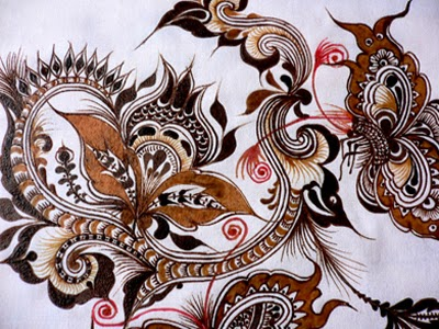 batik is art painting on cloth native Indonesia