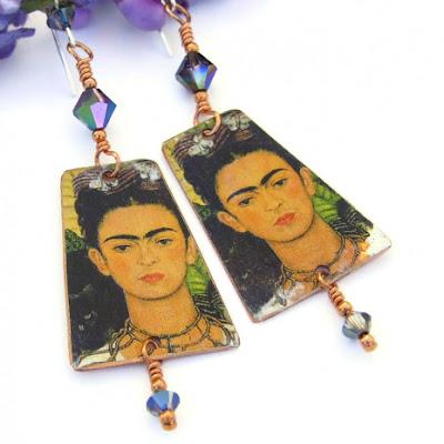 frida kahlo dangle jewelry gift for women
