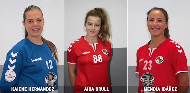 Aida Brull, Kaiene Hernández y Mendia Ibáñez