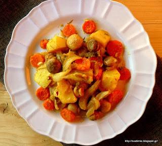 Χειμωνιάτικο μπριάμ με πορτοκαλένιο άρωμα φινόκιο- Orange scented baked veggies