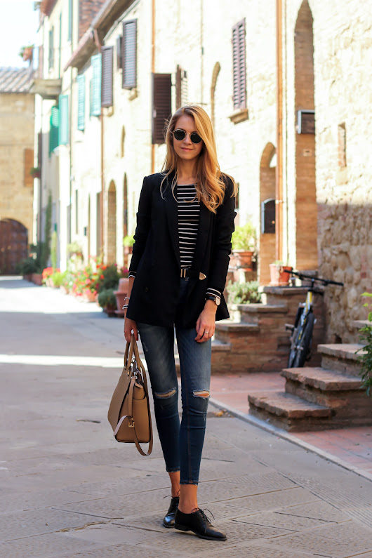 STRIPED TOP & BLAZER