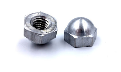 Custom Aluminum Cap Nuts - 3/8-16 Custom Acorn Nut Manufactured Per Samples Provided