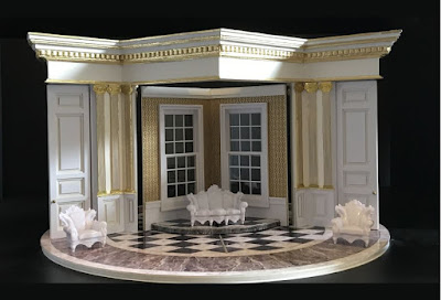Set design by Dick Bird for Martin Lloyd Evans production of Jonathan Dove's Mansfield Park at The Grange Festival
