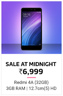 Mi 4A 3 GB 32 GB Only Rs 6999/- Open Sale