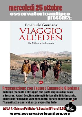 Viaggio all'Eden a Pisa mercoledi 25 ottobre