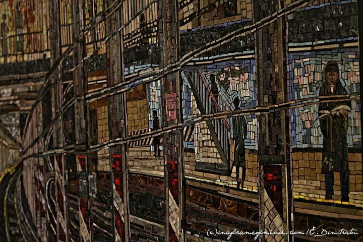 Spring Street SoHo station mosaic