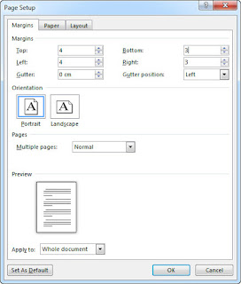 mengatur margin di ms word