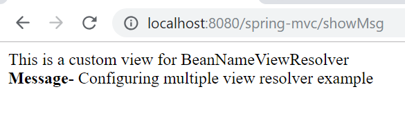 Spring MVC Configuring Multiple View Resolvers