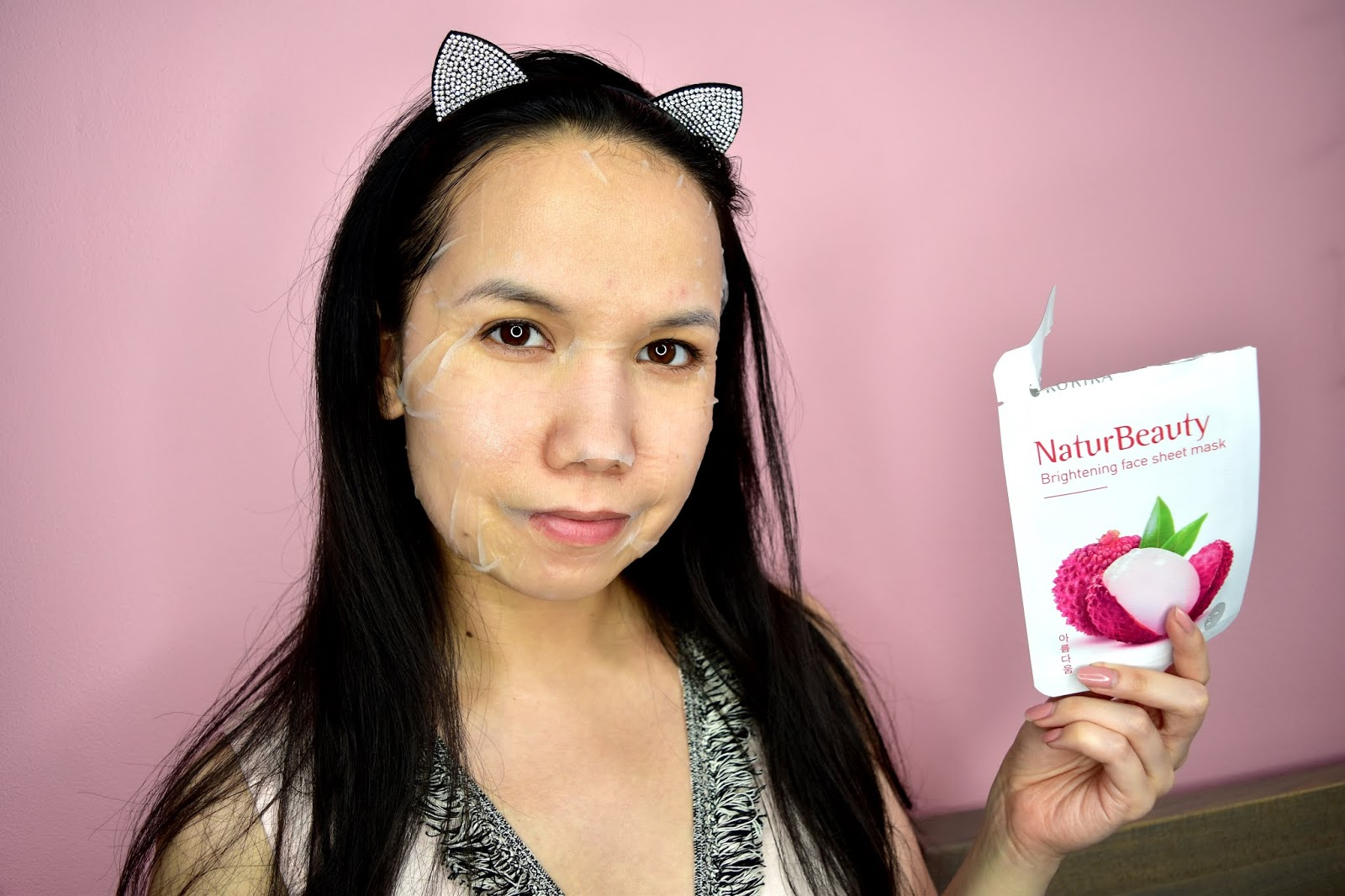korika natur beauty brightening mask aplikácia