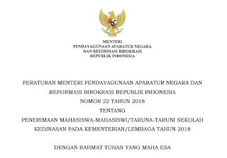 Penerimaan Mahasiswa-Mahasiswi Taruna-Taruni Sekolah Kedinasan Pada Kementerian Lembaga Tahun 2018.