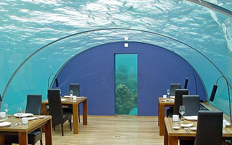 ithaa one of the worlds most attractive and expensive restaurants this is the first restaurant undersea the foundation work of the restaurant began in