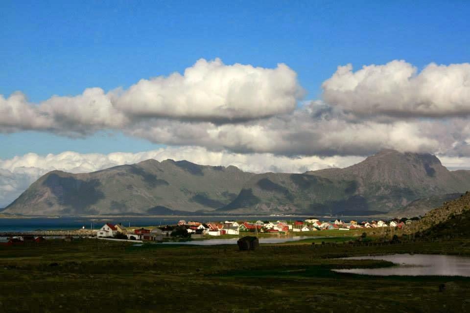 Pueblo de Eggum en Vestvagoy, Islas Lofoten.