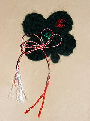 <b>Martisor handmade 2012 trifoi norocos</b>