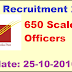 IPPB Recruitment 2016 Apply online 650 Scale I Officers Posts