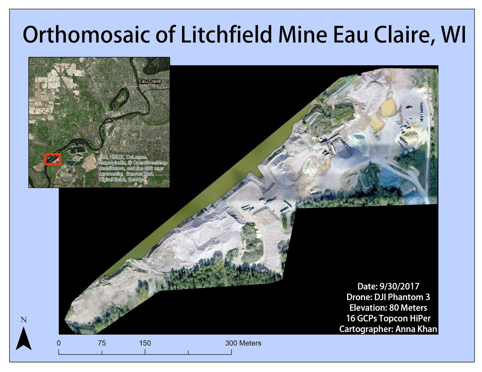 figure 4 orthomosaic with gcps of litchfield mine