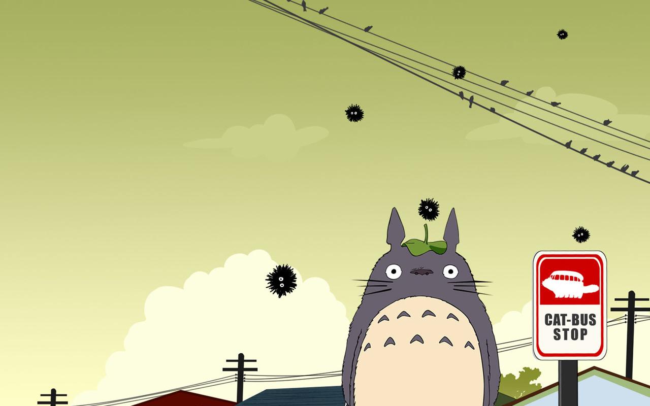 TWILIGHT BLOGGING ZONE: Totoro Wallpaper (Favourite)