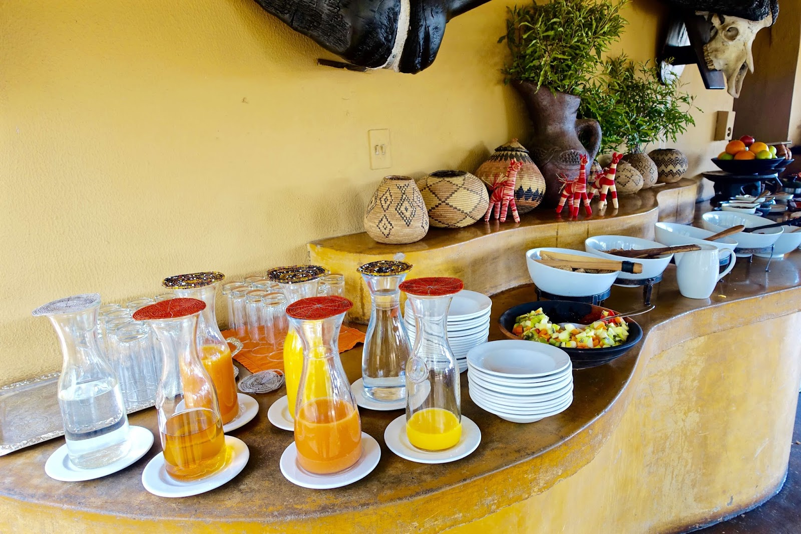 buffet breakfast at motswari newmark hotels