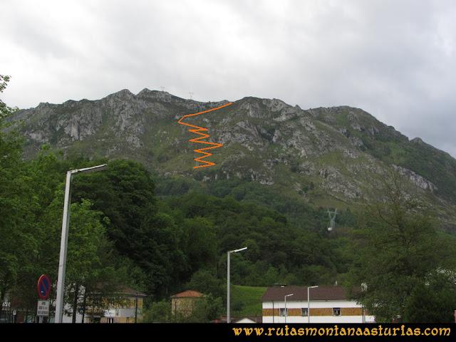 Ruta La Collada Monsacro: Vista desde Santa Eulalia