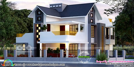 Beautiful 4 bedroom sloping roof residence in 2400 square feet