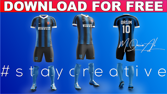 Football/Soccer Kit Design Tutorial || Football Full Kit Template Free Download by M Qasim ALi