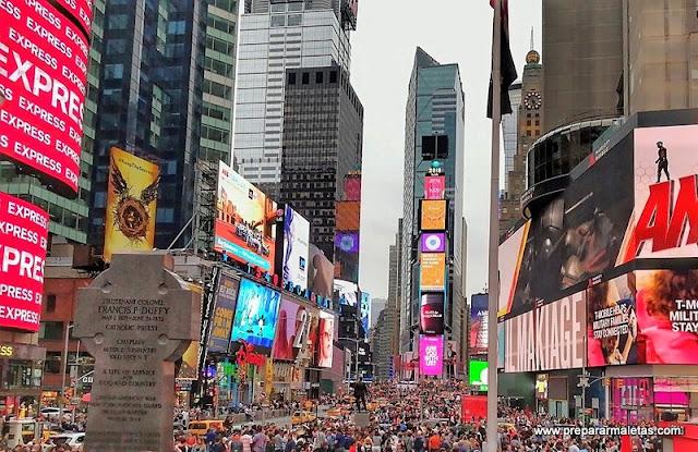 Times Square saturado