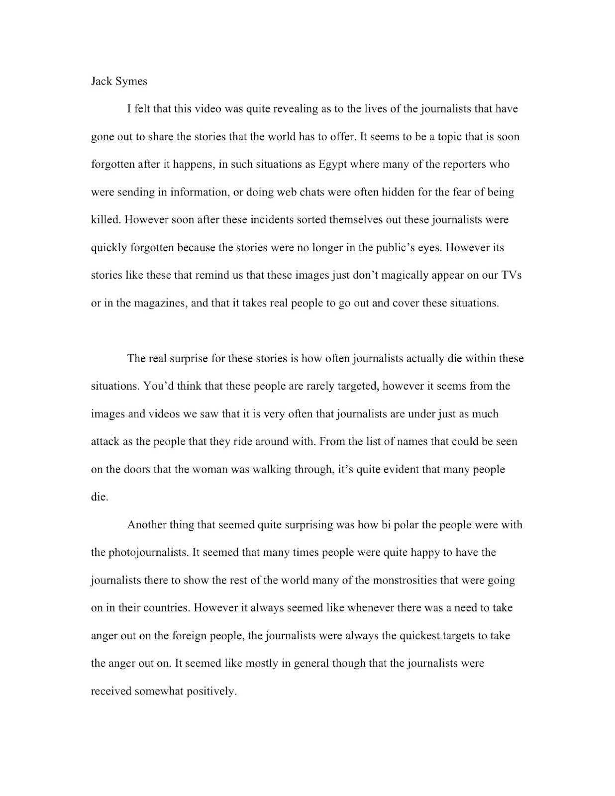 Essay About Responsible Journalism