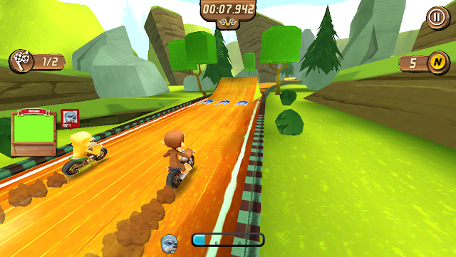 The monkeys are ready to race on motorbike with full speed. The game offers many levels and powers that you will never get bored of this game. Use boosters, perform stunts and knock down the other bikes. How long