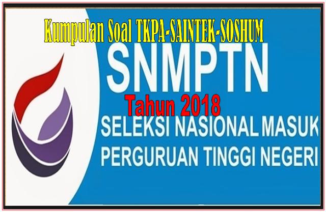 Download kumpulan soal-soal SBMPTN Tahun 2017 Asli  program IPA dan IPS