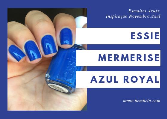 Mesmerise é um azul royal com um leve acabamento cremoso. Este tom é praticamente um item obrigatório para o verão. Perfeito para alegrar até um dia cinza. O acabamento é bastante brilhante. Requer duas camadas.