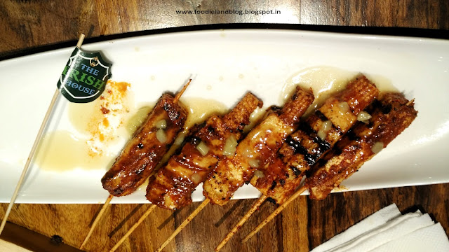 Skewers Cottage Cheese @ The Irish are now in Bellandur | Bangalore
