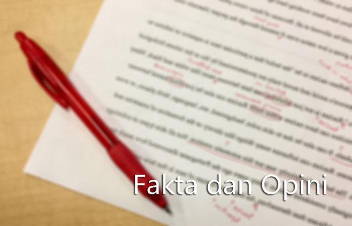 Contoh Fakta Dan Opini Dalam Bentuk Artikel Kalimat Dan Paragraf Kosngosan